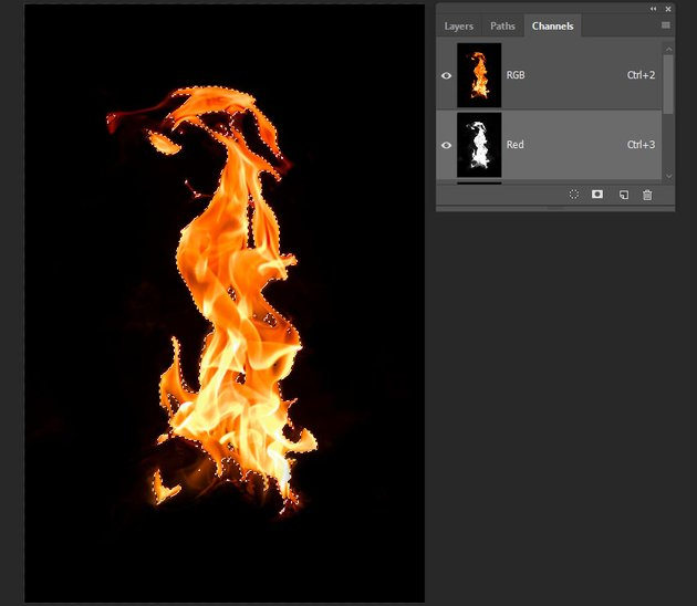 creating a copy of the flame image