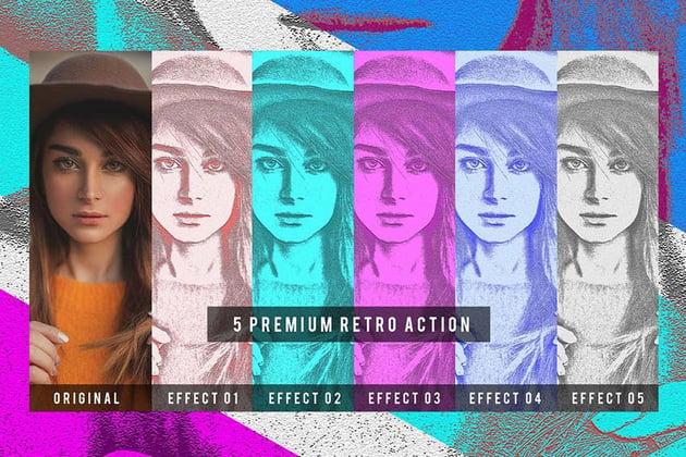 5 Premium Retro Action