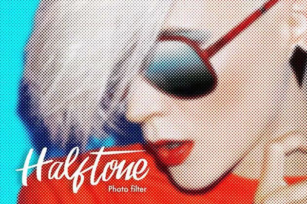 Halftone Photoshop Action