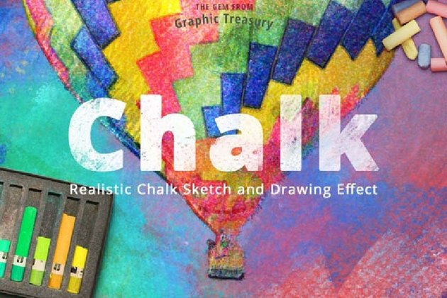 Realistic Chalk Sketch and Drawing Effect