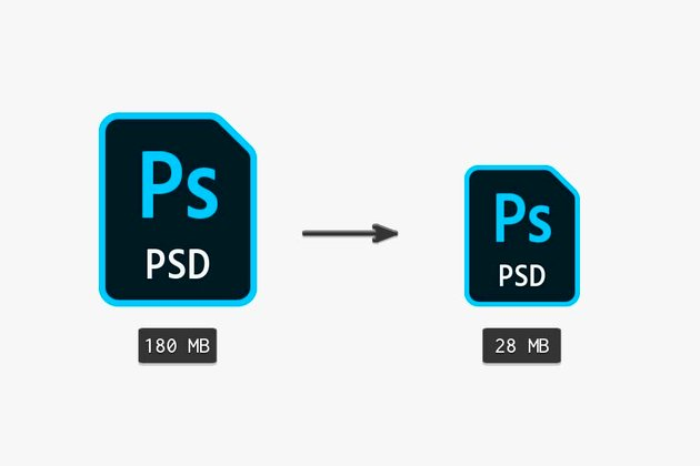 reducing the psd file size preview