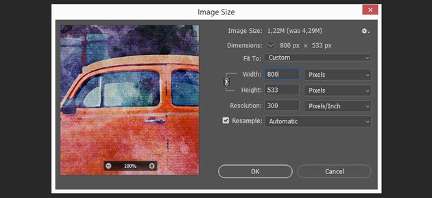changing the size of the canvas to reduce the file size