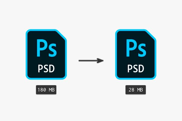 Using a few methods at once to reduce the file size