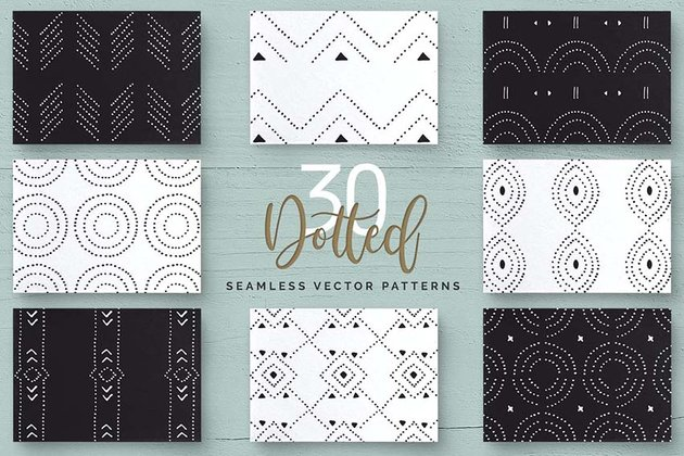 Dotted Vector Patterns  Tiles