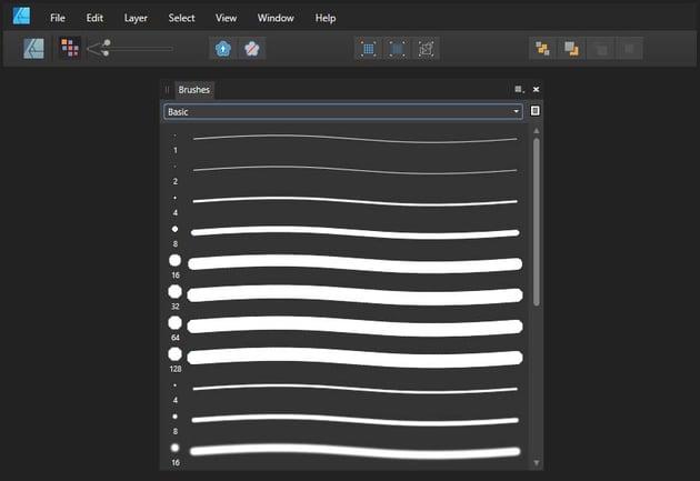 Raster brushes in affinity designer