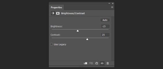 creating brightness and contrast adjustment layer