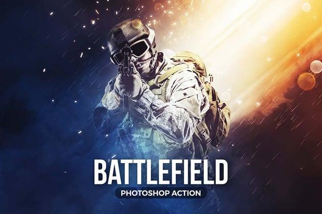 Battlefield Photoshop Action