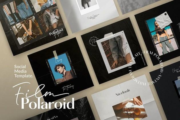Film Polaroid Photoshop Template