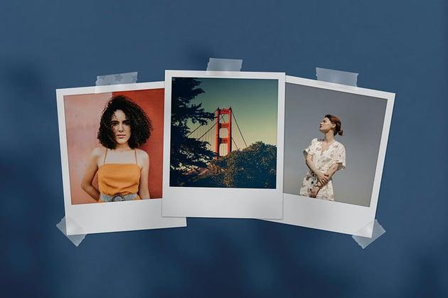 Polaroid Photoshop Image Template Mockup