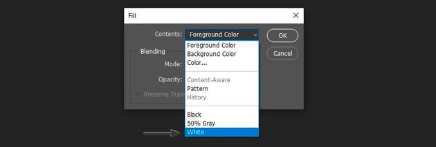 changing the background color using a fill function