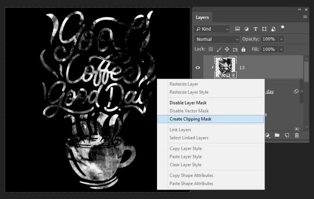 adding a jpeg texture to the lettering