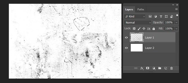 selecting the part of the texture for brush