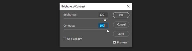 setting up brightness and contrast