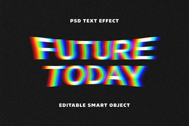 Acid glitch text effect
