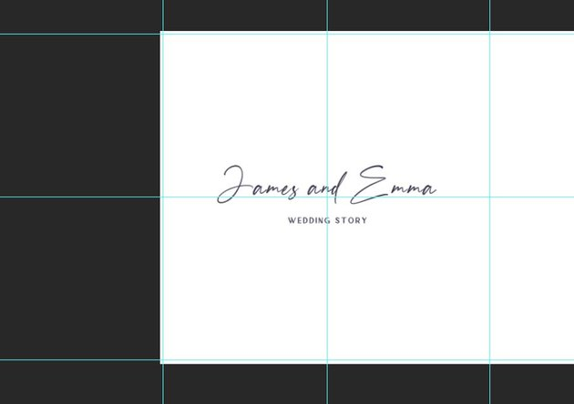creating the cover of the photoalbum