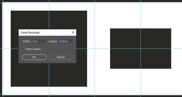 creating two rectangular placeholders