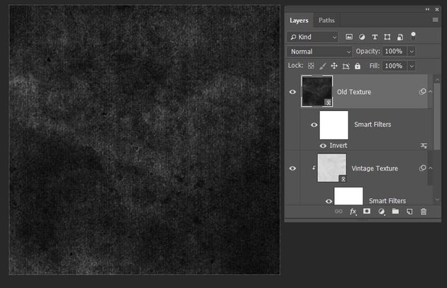 placing the texture and inverting the colors