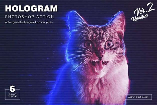 hologram photoshop action
