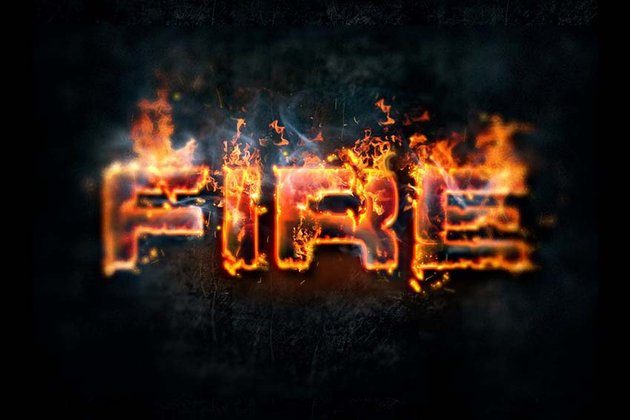 Hot lava and fire photoshop layer styles