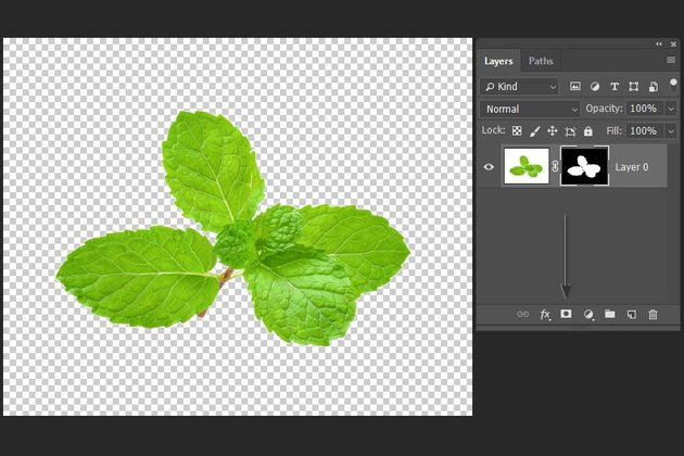 adding a mask to cut out the image