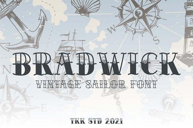 BRADWICK - Sailor Tattoo Font