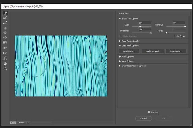 creating a displacement map texture