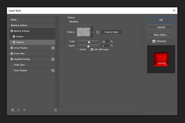 adding texture layer style