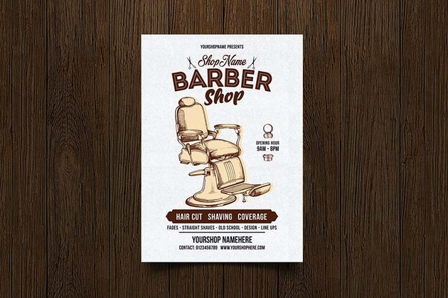 Barber Shop Flyer by Creativeartx