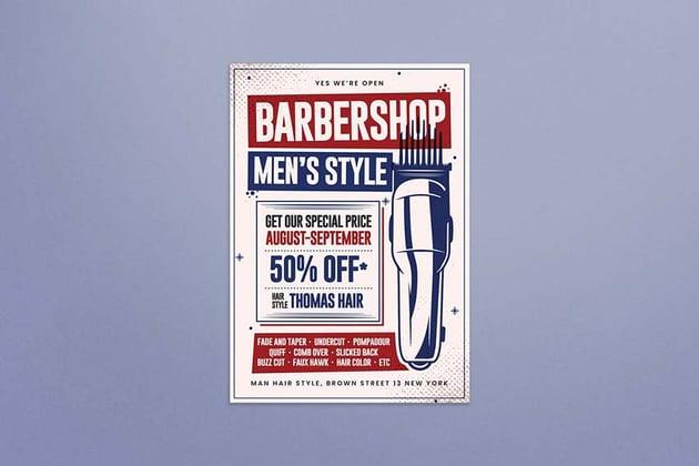 Barbershop Flyer by Graphr