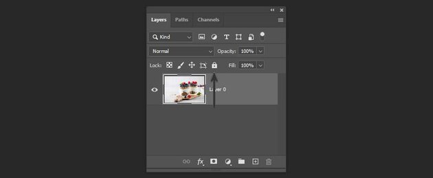 locking a layer in Photoshop
