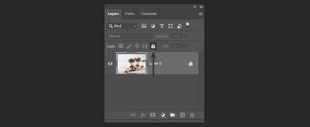 unlocking a layer with shortcut