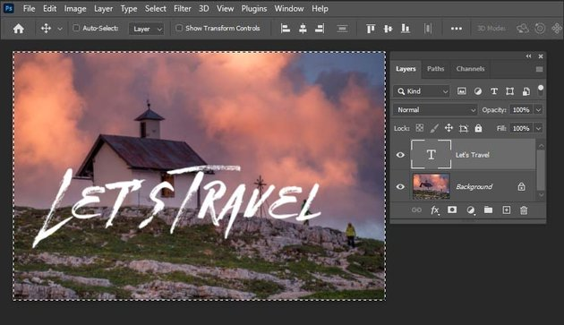 how to center text in Photoshop-activating the align functions
