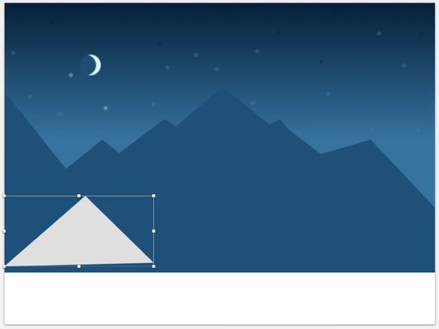 Create mountain using triangle