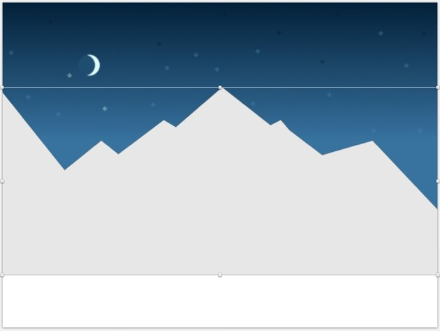 Create distant mountains shape