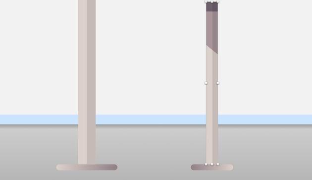 Bar stool leg