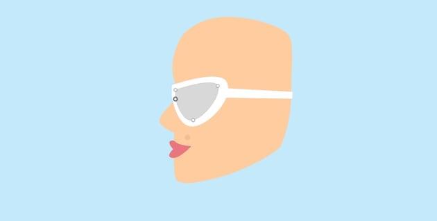 Girl - sunglasses lens