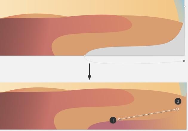 Fifth sand dune gradient