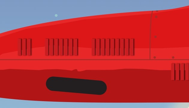 Rotate side exhaust background