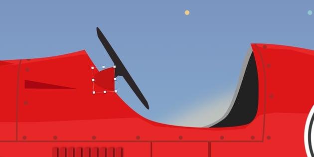 Create wing mirror basic shape