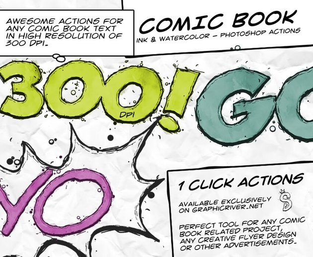 Comic Book Ink Action