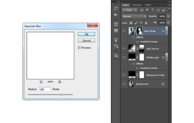 Bluring the layer mask