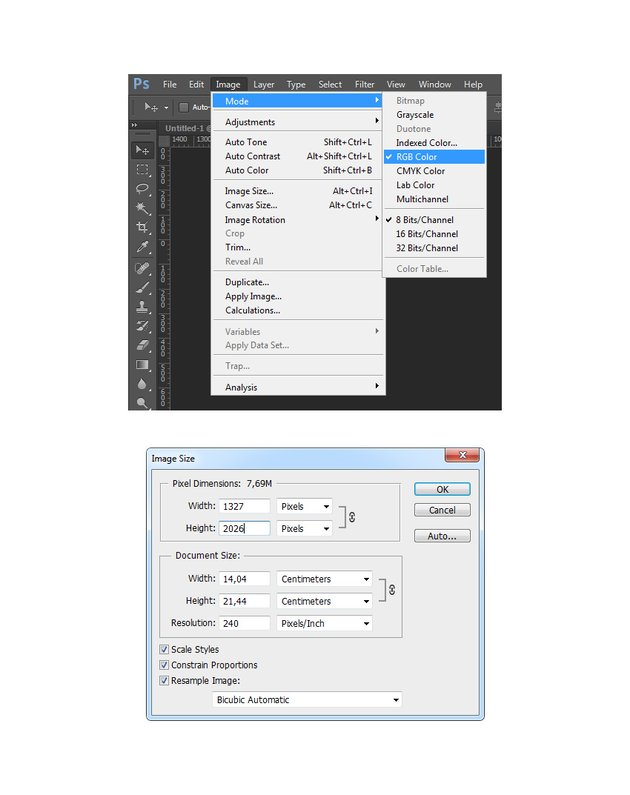 Checking image size and image mode