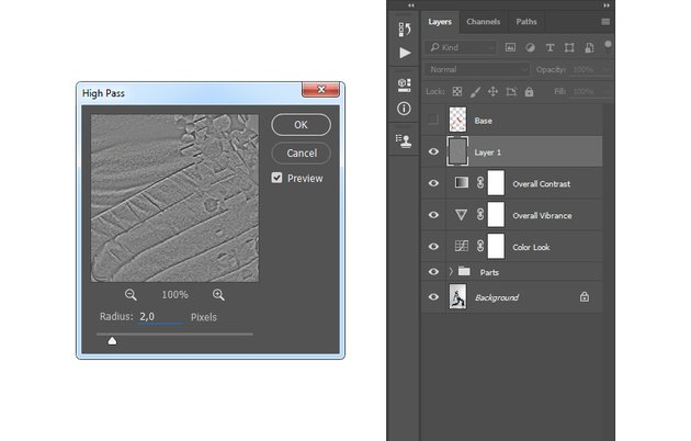 Adding high pass filter to Layer 1