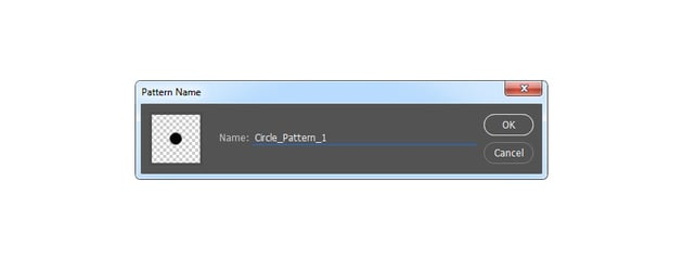 Defining new pattern named Circle Pattern 1