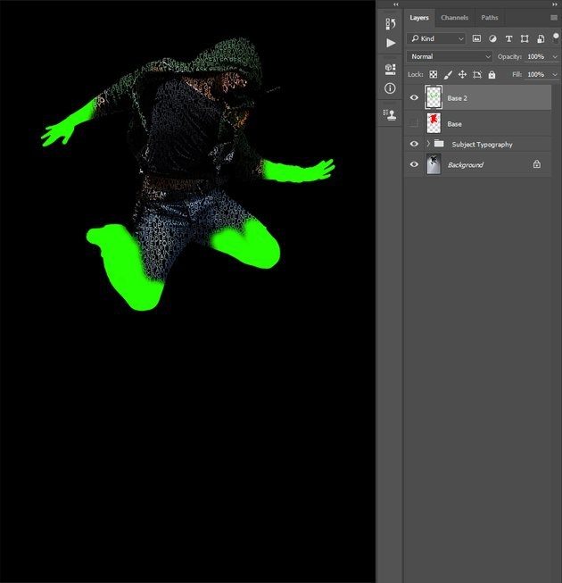 Applying layer mask of Base 2 layer