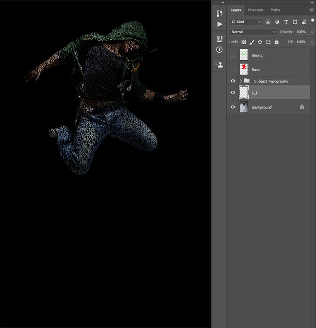 Creating first letters layer