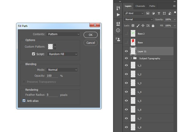 Filling work path with Typography_Pattern_2