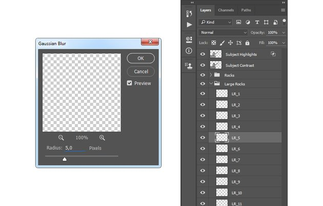 Adding filter gaussian blur to LR_5