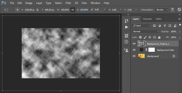 Transforming the Background_Texture_1 layer