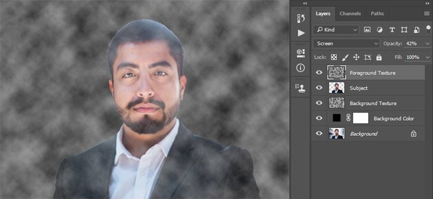 Changing the blending mode and opacity
